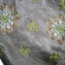 FABULOID Green Tan Gold Embroidered Flower Skirt 8 NEW