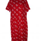 EDDIE BAUER Red White Flower Floral Dress M