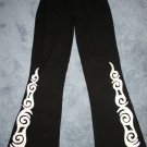 DESIGN BY NAOMI Black White Funky Yoga Stretch Pants 3