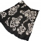 JONES WEAR Black White Skirt Lace Hem 18