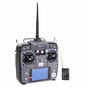 RadioLink AT10 10CH 2.4Ghz Transmitter with R10D 10CH Receiver Gray