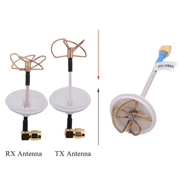 5.8Ghz FPV Mushroom Omnidirectional Antenna TX/RX Set