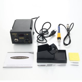 YiHUA-937D+ 60W 110V Constant-Temperature Soldering Iron Kit/ LCD Display (US Standard) Black