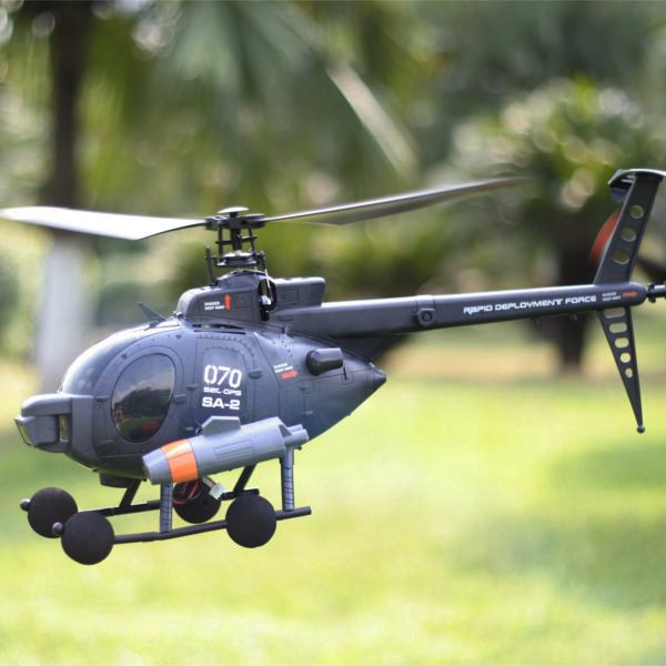 FX070C 2.4G 4CH 6-Axis Gyro Flybarless MD500 Scale RC Helicopter_Sold Out