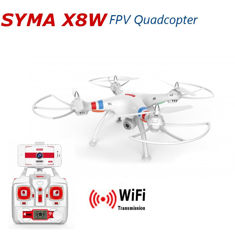 Syma X8W Explorers WiFi FPV RC Quadcopter with 2MP Camera RTF