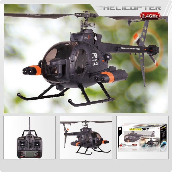New Arrival ! FX070C 2.4G 4CH 6-Axis Gyro Flybarless MD500 Scale RC Helicopter
