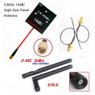 Hubsan H501S H107D+ H107D Enhanced FPV Distance 5.8Ghz 14dBi Panel Antenna 2.4GHz 3dBi Antenna