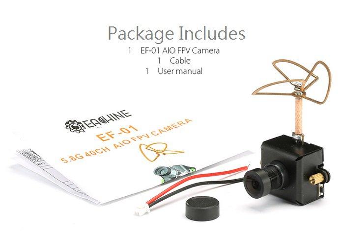 Eachine EF-01 AIO 5.8G 40CH 25MW VTX 800TVL 1/3 Cmos FPV Camera-sold Out!