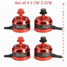(4) Racerstar Racing Edition 2205 BR2205 2300KV 2-4S Brushless Motors 2 CW & 2 CCW