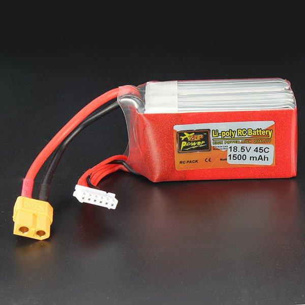 ZOP Power 18.5V 1500mAh 5S 45C Lipo Battery XT60 Plug