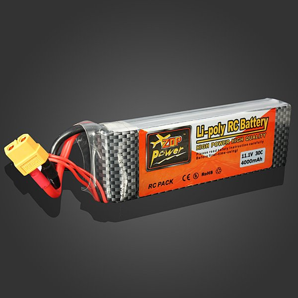 ZOP Power 11.1V 4000MAH 3S 30C Lipo Battery XT60 Plug_Sold Out !