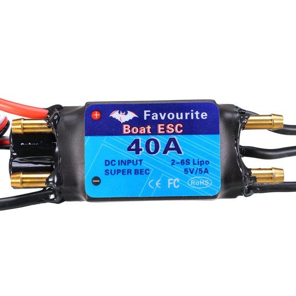 FVT BOAT040 40A Brushless BOAT ESC Speed Controller 5V/3A