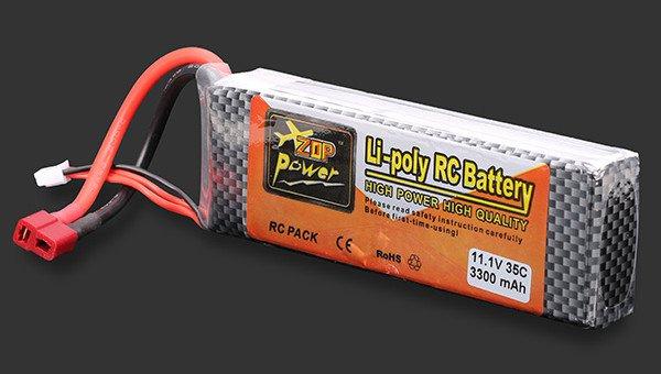 ZOP POWER 11.1V 3300MAH 3S 35C Lipo Battery T plug