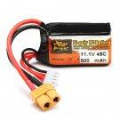 ZOP Power 11.1V 500mAh 45C 3S Lipo Battery XT60 Plug