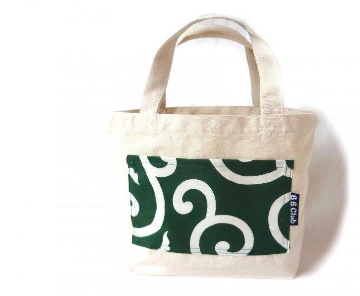 Tote bag Japanese KARAKUSA-Green