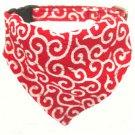 Dog KARAKUSA Bandana Collar RED L size (Dog Collar + Bandana)