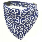 Dog KARAKUSA Bandana Collar Navy Blue L size (Dog Collar + Bandana)