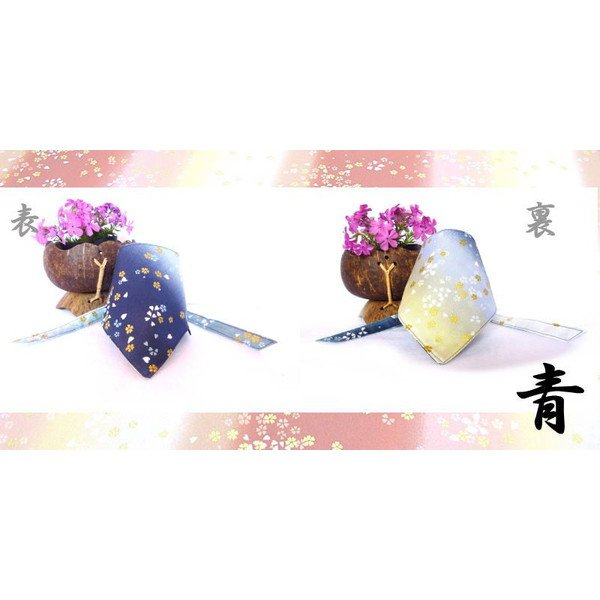 "Dog Bandana for Japanese SAKURA ""Blue"""