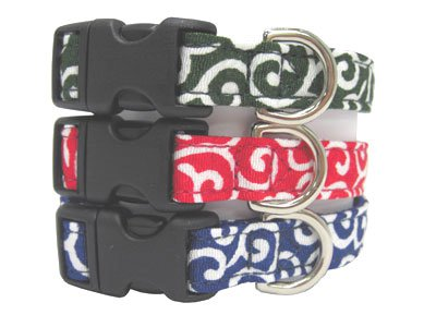 Japanese dog KARAKUSA Collar Navy Blue M size
