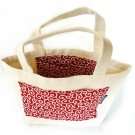 Tote bag Japanese KARAKUSA Small-patterned Red