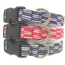 "Japanese dog ""yagasuri"" (arrow pattern)  Collar Purple M size"