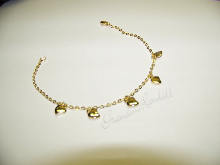 9 inch Gold Tone Anklet