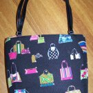 Black Canvas Tote Purse