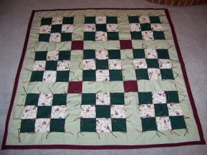 Home made lap  Or Baby Blanket Quilt