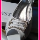 Ivory Heels with Rhinestone Accents