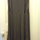 Calvin Klein Stripe Handkerchief Dress - Brown in size M