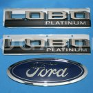 Brand New Ford OEM F-150 Lobo Platinum 2014-2015 3 Piece Emblem Set