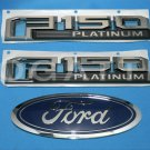 Brand New Ford OEM F-150 Platinum 2014-2015 3 Piece Emblem Set