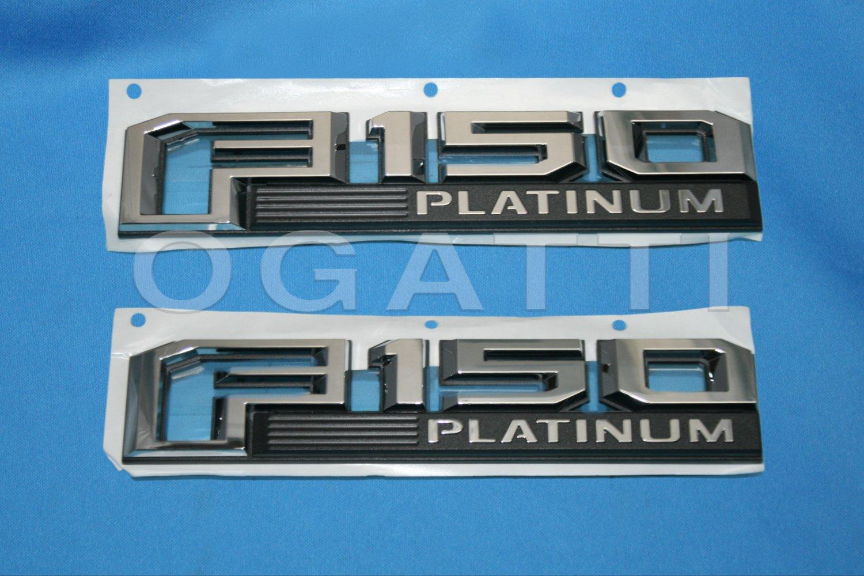 Brand New Ford OEM F-150 Platinum 2014-2015 2 Piece Emblem Set