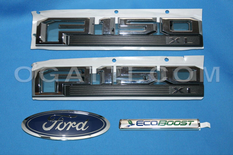 Brand New Ford OEM F-150 XL Ecoboost 2014-2015 4 Piece Emblem Set