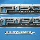 Brand New Ford OEM F-150 Platinum Ecoboost 2014-2015 3 Piece Emblem Set