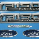 Brand New Ford OEM F-150 Platinum Ecoboost 2014-2015 5 Piece Emblem Set