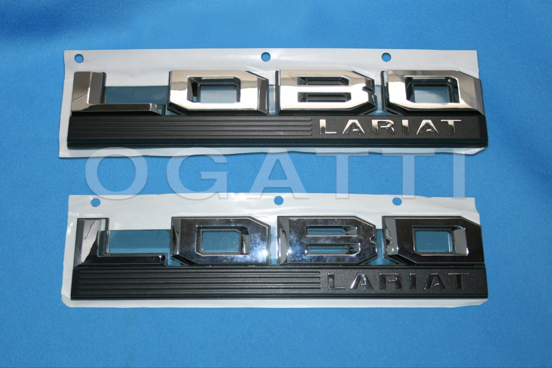 Brand New Ford OEM F-150 Lobo Lariat 2014-2015 2 Piece Emblem Set