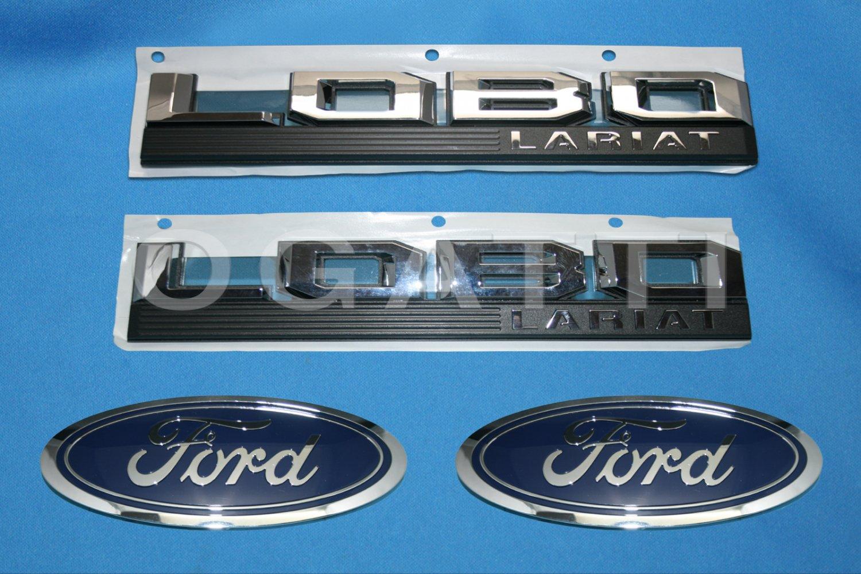 Brand New Ford OEM F-150 Lobo Lariat 2014-2015 4 Piece Emblem Set