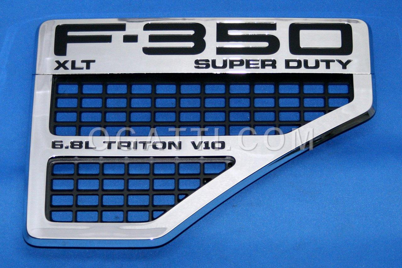 Brand New Ford OEM F-350 XLT SUPER DUTY 2008-2010 6.8L Triton V10 Right Fender Vent Set 8C3Z-16228-C