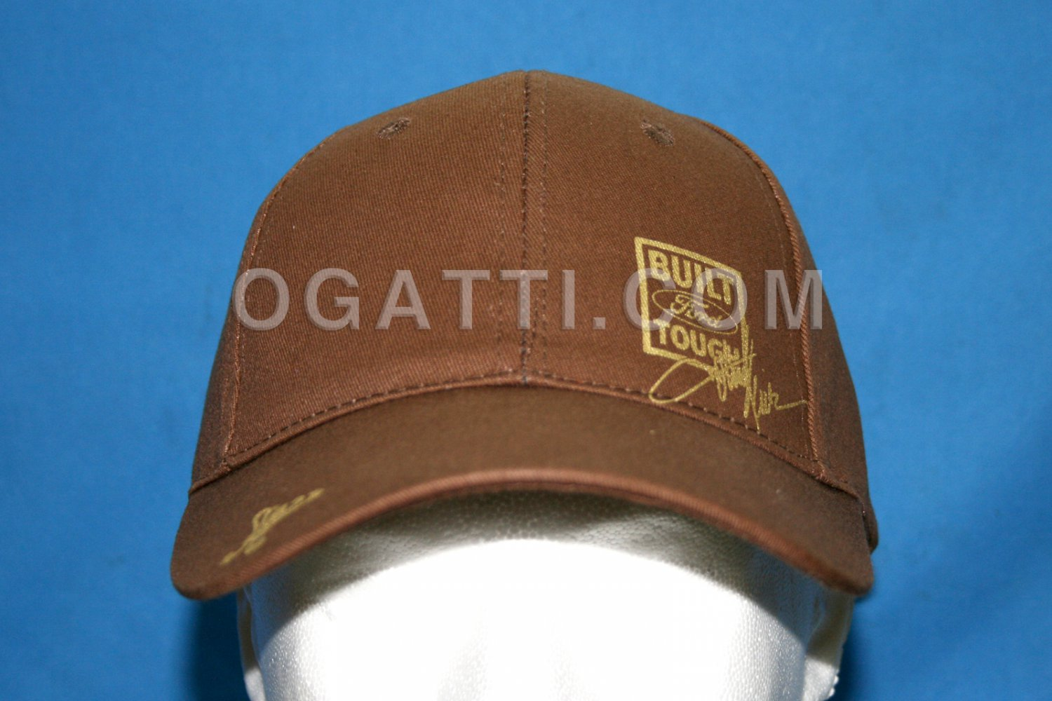 Brand New Ford Built Tough Brown / Gold Hat 105018