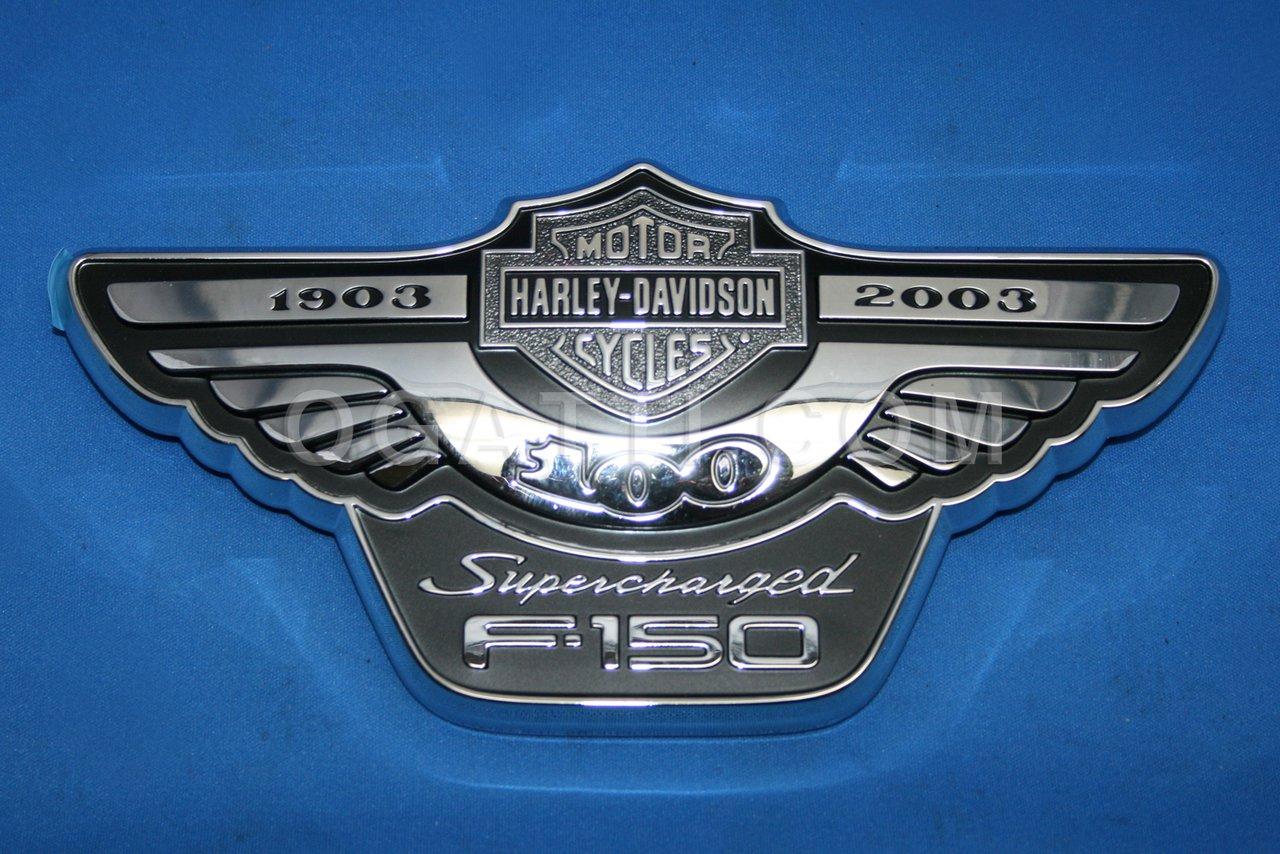 Brand New Ford OEM F-150 Supercharged Harley Davidson 1903 - 2003 Right Fender Emblem 3L3Z-16720-AB