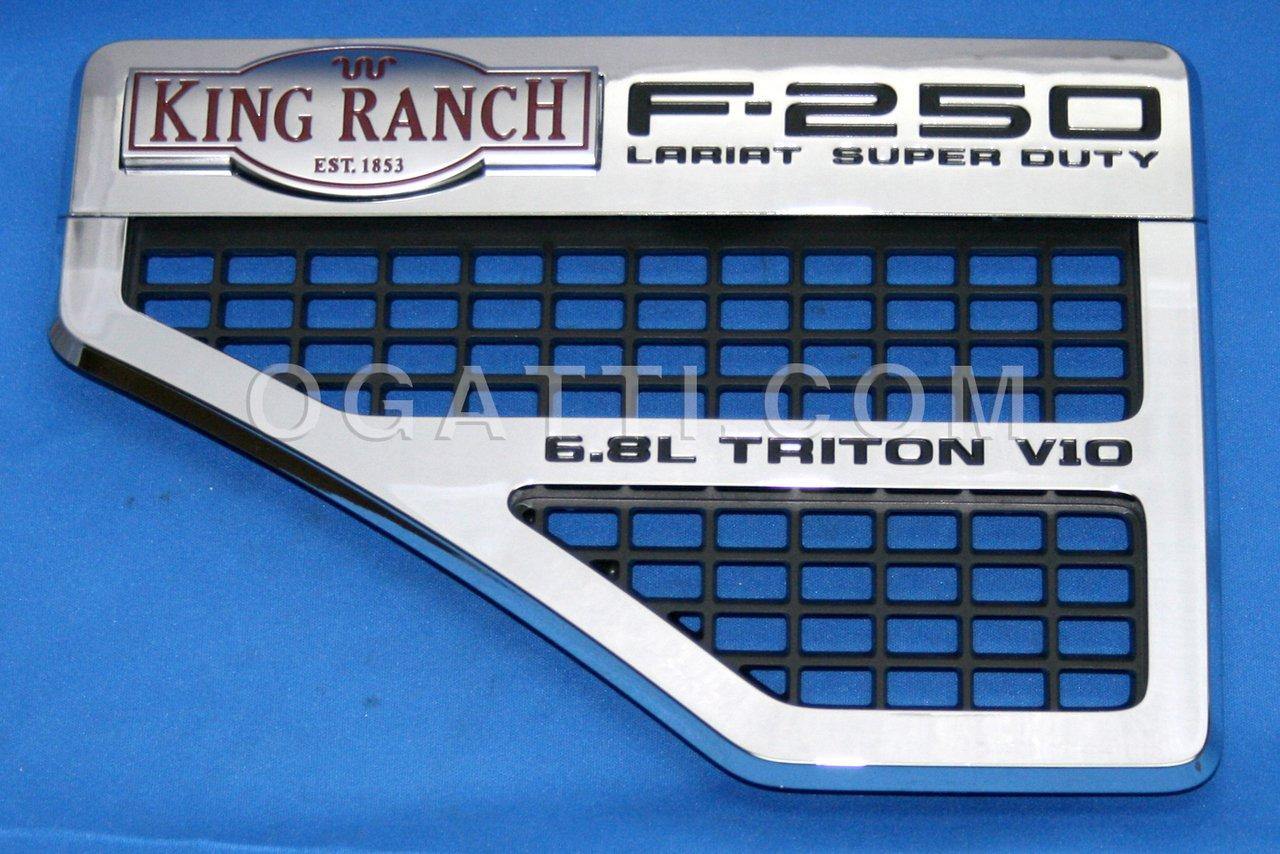Brand New Ford OEM F-250 King Ranch 6.8L Triton V10 2008-2010 Left Vent Set 8C3Z-16228-D