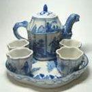 Vintage Retired Delft  Danish Porcelain DisplayPolychrome Small Bud Vase