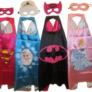 Superprinces Dress Up Costumes - 4 Satin Capes and 4 Felt Masks