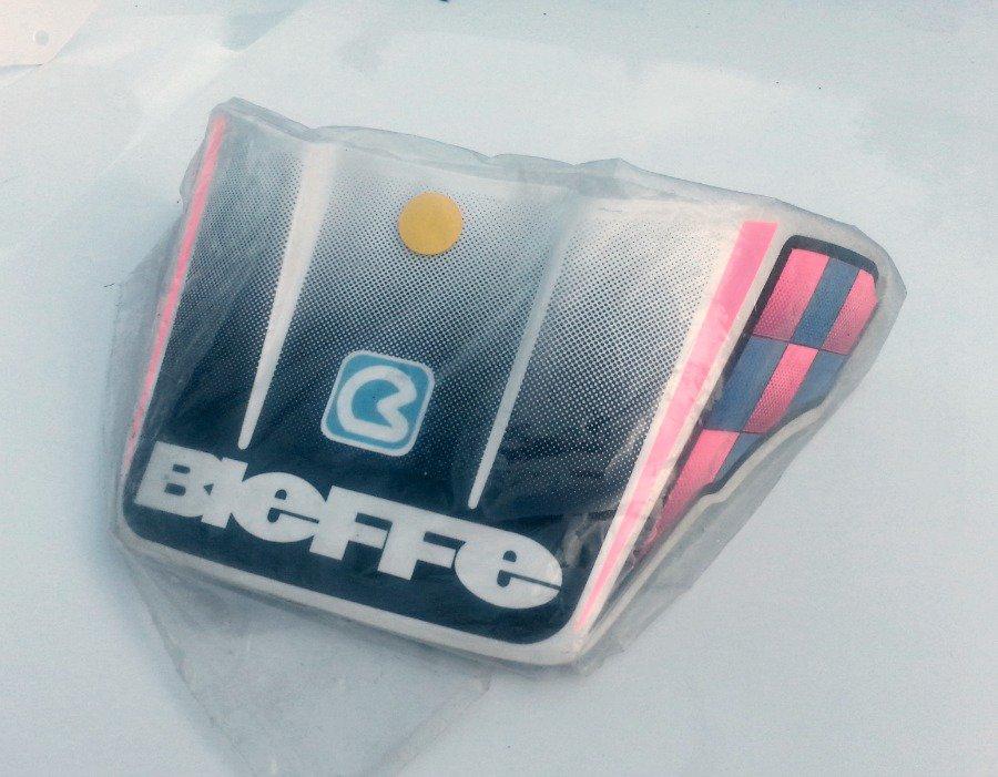 Bieffe MX Helmet Visor - White/Grey/Pink