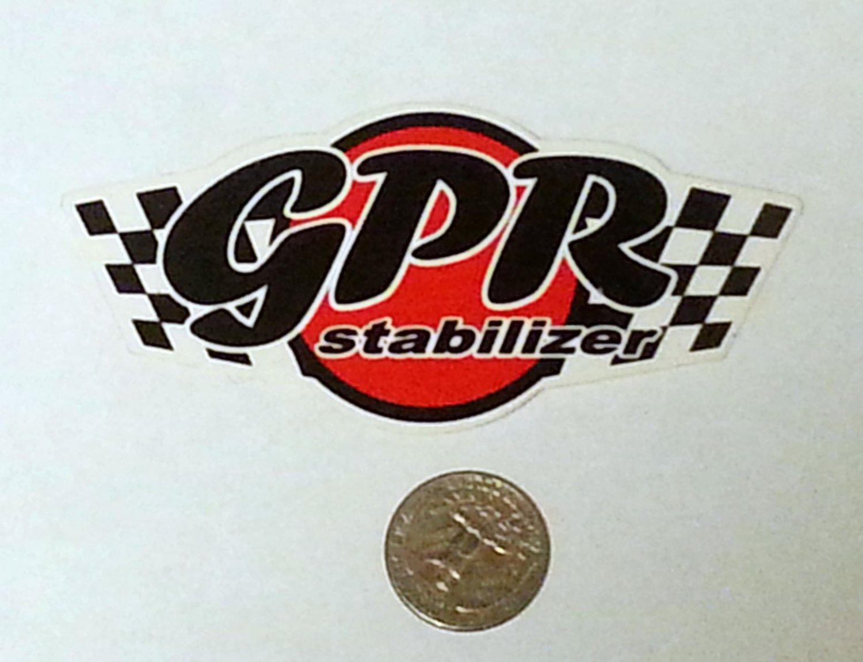 "GPR Stabilizer Sticker - 4 1/2"" x 2"""
