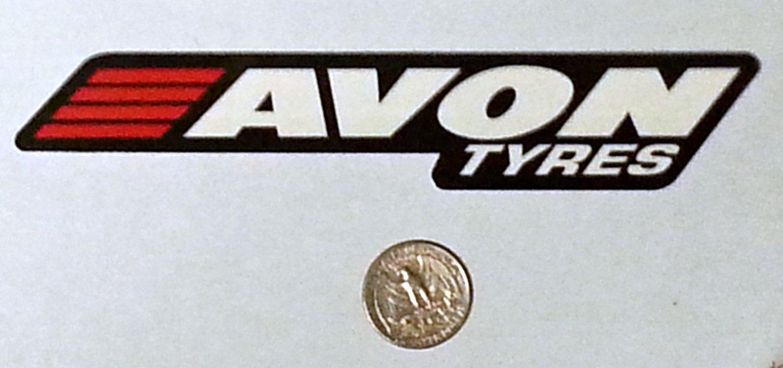 """Avon Tyres sticker - 6 3/8"""" x 1 1/8"""""""
