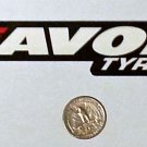 "Avon Tyres sticker - 6 3/8"" x 1 1/8"""