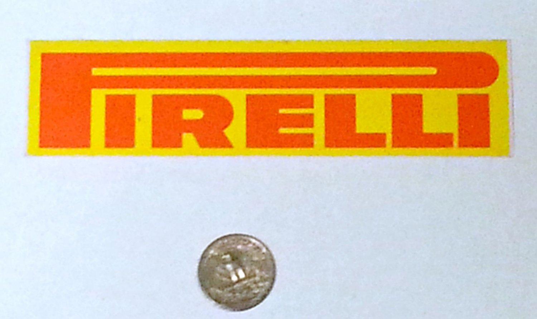 "Pirelli sticker - 5 7/8"" x 1 1/2"""