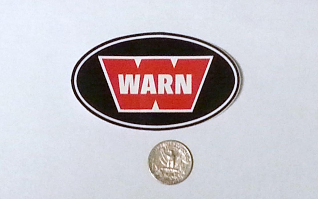 """Warn sticker - 3 1/2"""" x 2 1/8"""""""